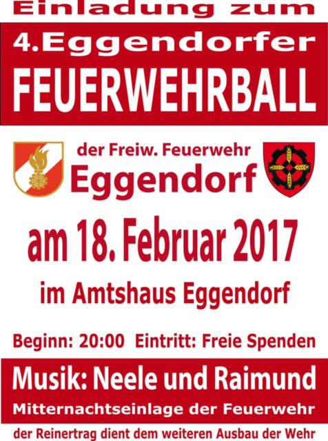 Plakat Feuerwehrball