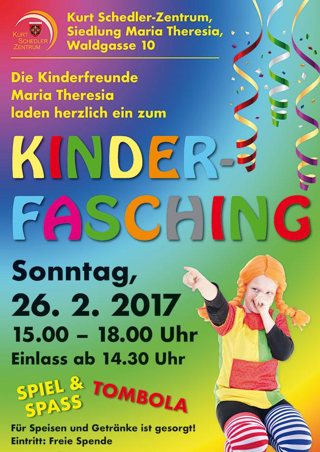 Plakat Kinderfasching der Kinderfreunde